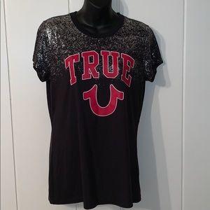 "True Religion ""True Foil Crew T"" T-shirt"